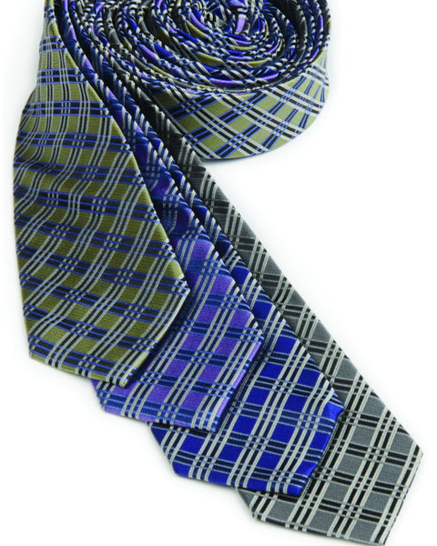 100% silk tie, silk plaid tie, tie, server tie, server silk tie