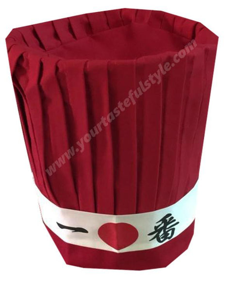 Japanese restaurant hat set, hibachi grill chef hat set