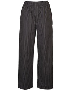 charcoal pinstripe chef pants, chef pants