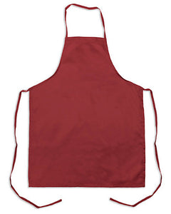 burgundy bib apron, kitchen chef bib apron, discount bib apron