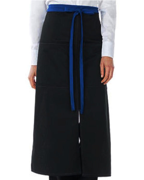 High-Quality Split Bistro Apron with Blue Color Blocked