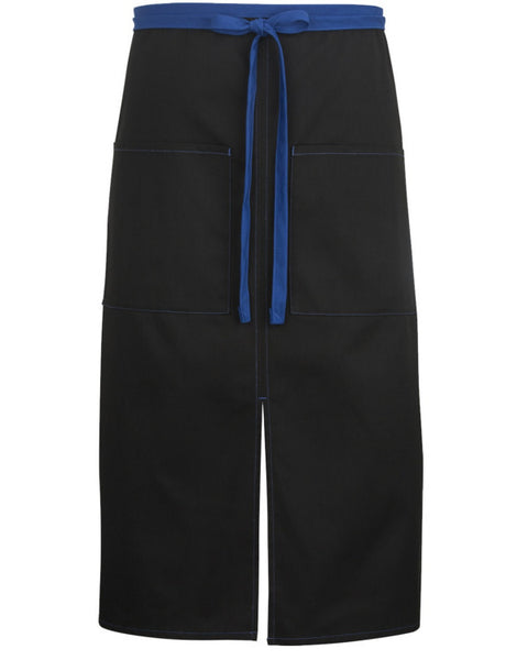 full size bistro apron, bistro apron, dinner server apron, black and blue apron