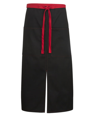 Split Bistro Apron with Red Color Blocked
