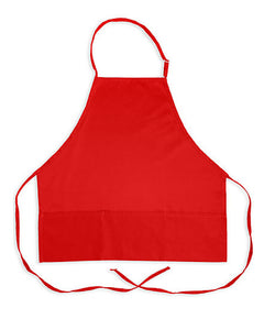 red bib apron, adjustable bib apron, kitchen chef bib apron