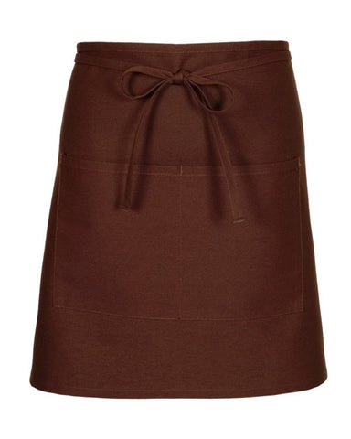 brown bistro apron, two pocket brown apron, diner server bistro aprons