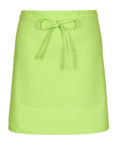 lime color bistro apron, bistro apron, two pocket bistro aprons