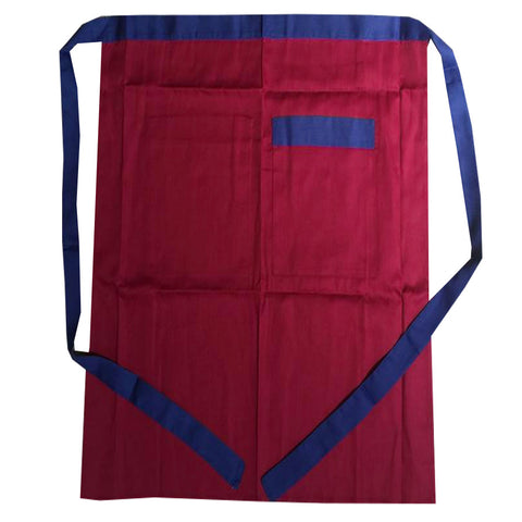 bistro apron, red burgundy apron, chef apron