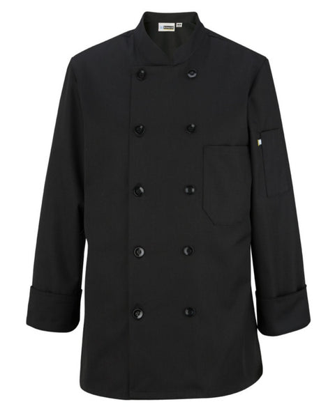 Ladies chef coat, women's long sleeve chef coat, black Ladies chef coat
