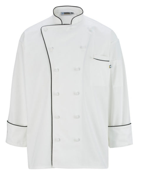 chef Jacket, Cloth Covered Button Classic Chef Coat, chef coat