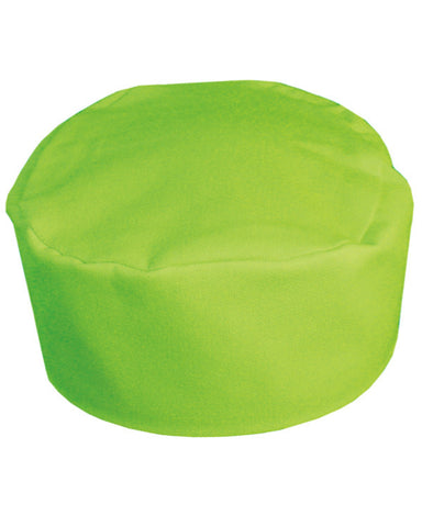 pill box hat, chef hat, green chef hat, chef skull cap