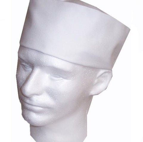 Chef Beanie Cap, white chef hat, chef skull hat, chef hat, culinary school chef hat
