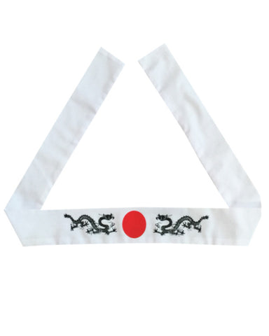 Dragon Headband, Japanese headband, Hibachi chef headband