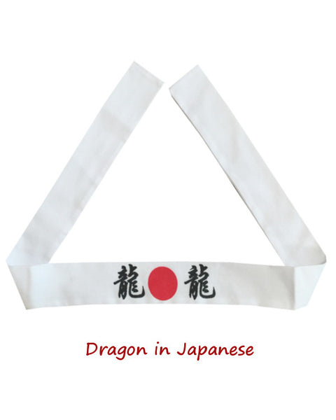 Japanese headband, Dragon letter headband, Dragon headband