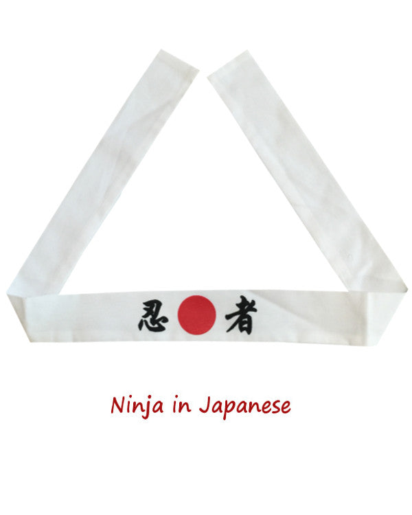Ninja Japanese headband, Hibachi chef headband