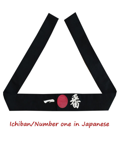 Ichiban headband, Ichiban hibachi chef headband Number one, hibachi chef