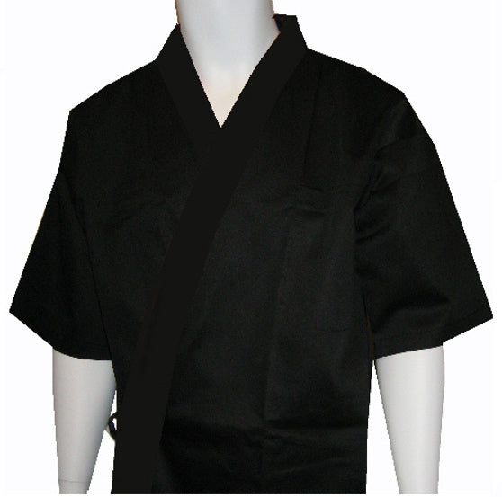 Sushi chef Jacket, black sushi chef coat