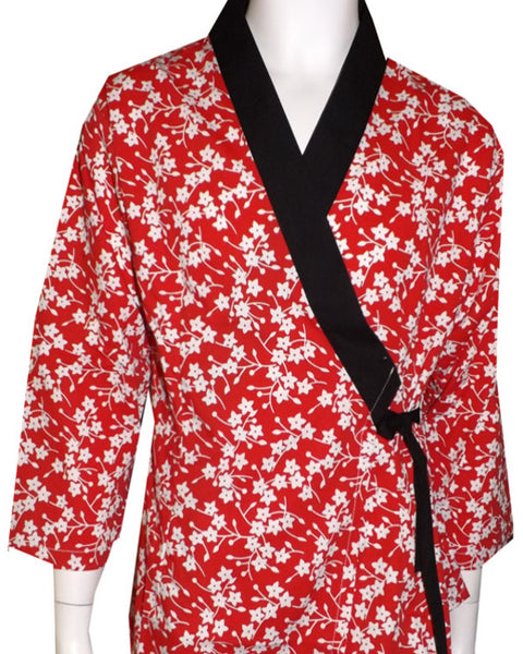 Ladies happi coat, Japanese ladies happi coat, flower happi coat