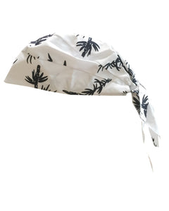 Adjustable Chef Head Wrap, biker bandanna Bamboo prints