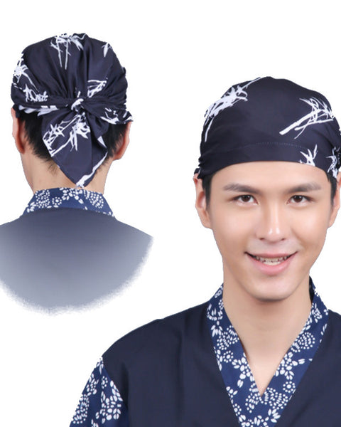 sushi chef head wrap, hibachi chef head wrap, head wrap, bamboo head wrap