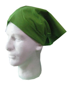 green head wrap, restaurant server head wrap, head wrap