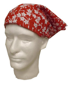 bandanna-style wrap, head wrap, flower head wrap, ladies headwrap
