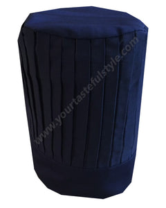 High Quality Fabric Pleated Chef Tall Hat NAVY BLUE Color