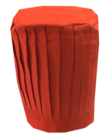Solid Top Chef Pleated Tall Hat, Orange Color