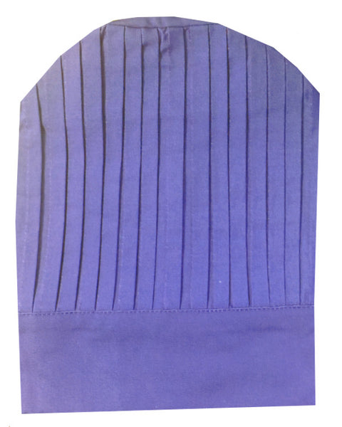 Fabric high-quality chef pleated tall hat - Purple Color