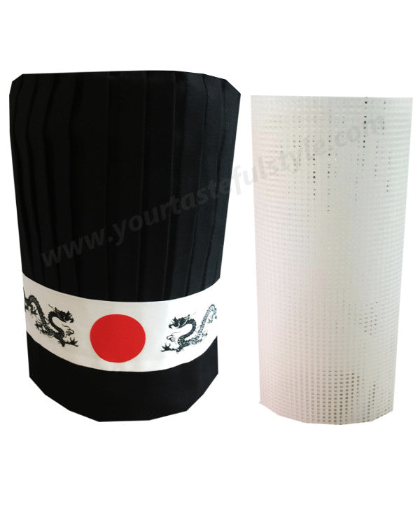 hibachi chef hat set, hibachi hat set, Teppan chef hat set