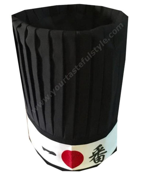 hibachi chef tall hat, black hibachi tall hat, ninja headband