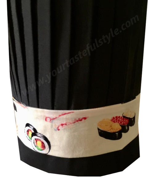 Hibachi chef tall hat, black hibachi chef hat, hibachi chef headband