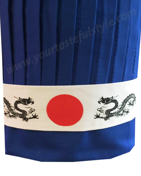 Blue hibachi chef hat set, hibachi chef tall hat, Teppan Chef Hat Sets