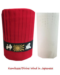 Hibachi Chef Tall Hat and net, hibachi chef hat set with net