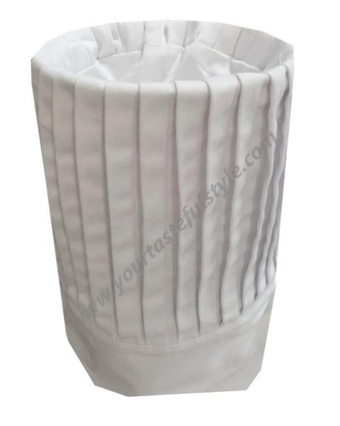 Chef Pleated Tall Hat - White Color