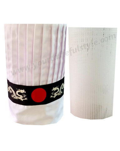 hibachi chef hat sets, Teppan chef hat set, Japanese grill chef hat set