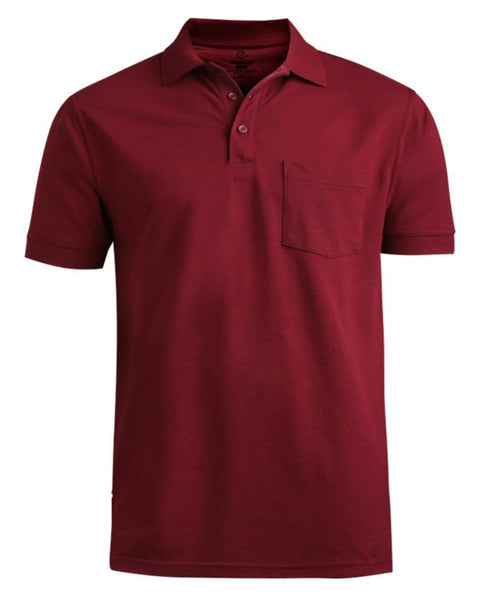 polo shirt, burgundy polo shirt