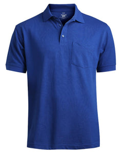 soft touch polo shirt, royal blue polo shirt, polo