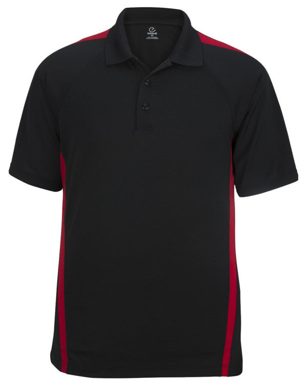 Men's Resists Stains Polo Shirt, black and red polo, men's polo