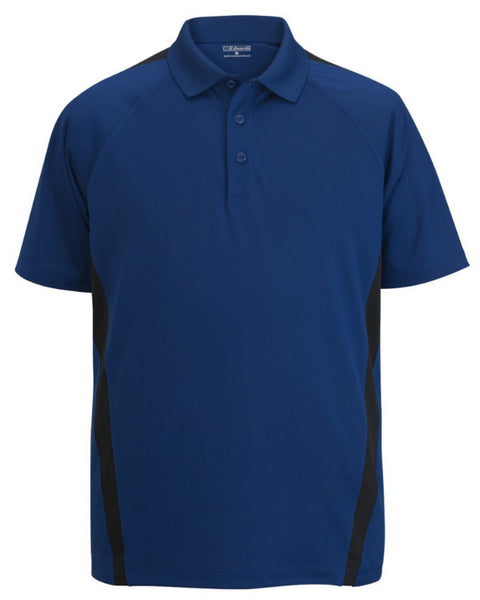 Men's Resists Stains Polo, men's short sleeve polo, royal and black polo