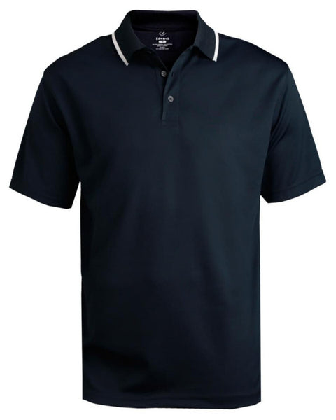 tipped collar polo, Navy and white polo shirt