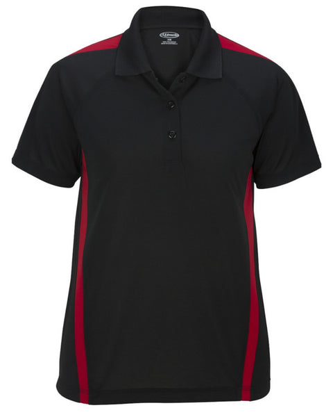 black and red polo shirt, grocery store uniform