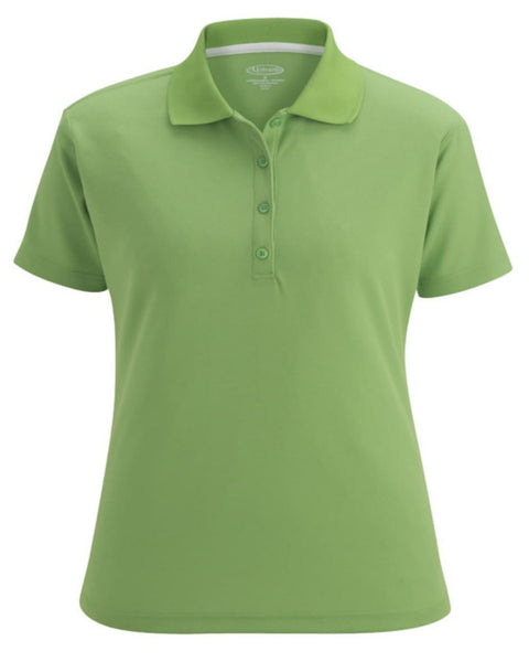 light green polo, worker polo shirt