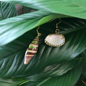 Shell and Trumpet Earrings