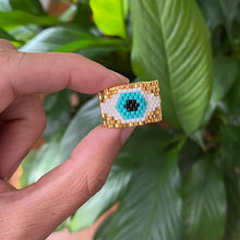 Load image into Gallery viewer, Gold Plated Evil Eye Ring