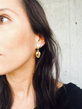 Load image into Gallery viewer, Dina White & Dina Gold Earrings
