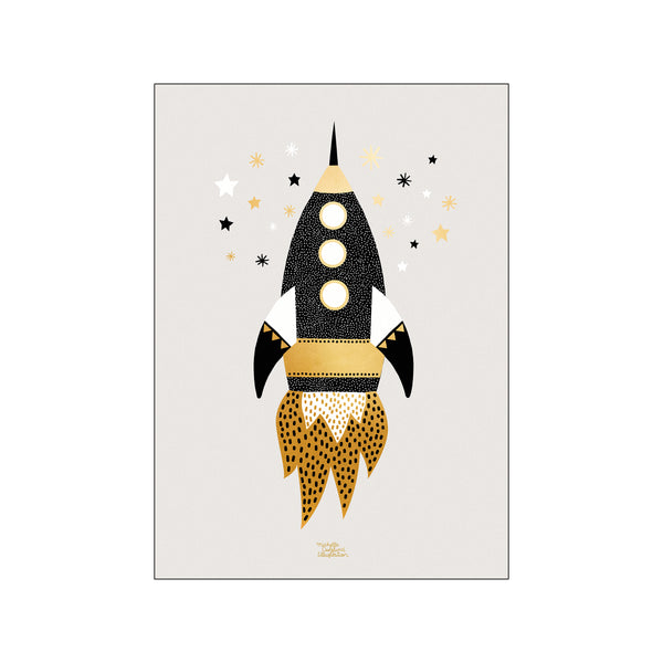 Gold Space Ship