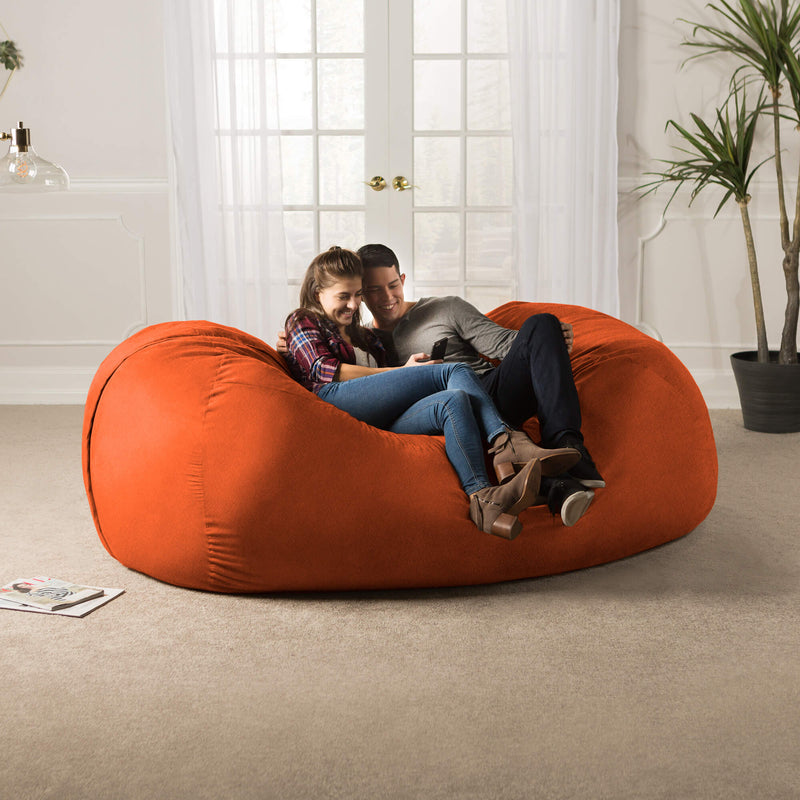 Giant Kids Bean Bag Gaming Lounge Chair 7' Microsuede Sofa Made in USA - Kids Eye Candy
