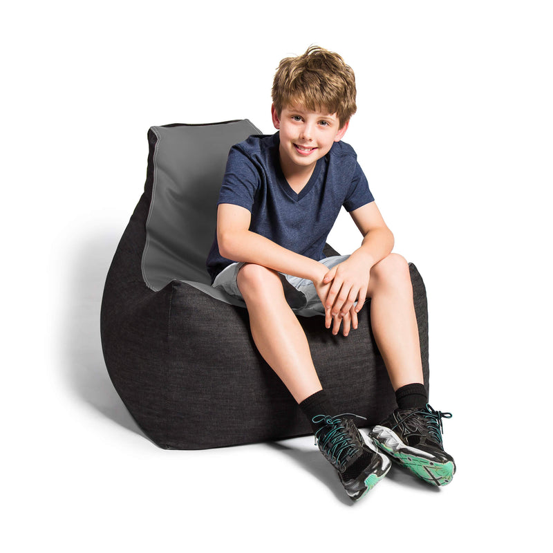 Gaming Kids Xbox PS5 PC Bean Bag Lounger Chair Leather Denim - Kids Eye Candy