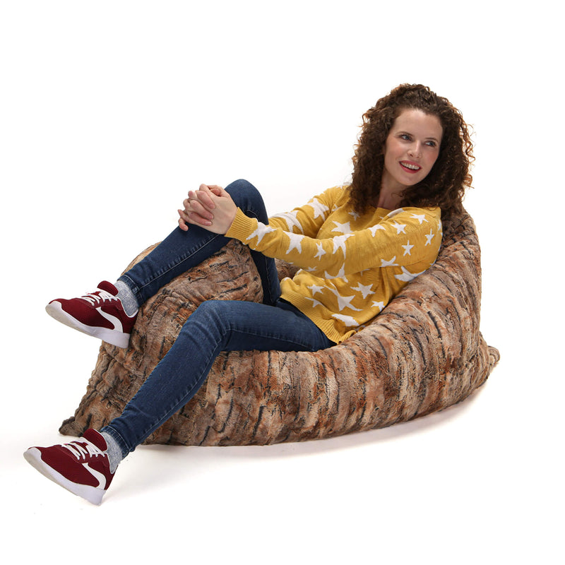 Ultimate Faux Fur Bean Bag Lounger Chair Slip Cover Made in USA - Kids Eye Candy