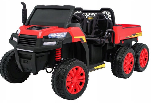 Tractor 24V Ride-On Two-Seater Ride-On Six Wheel Drive with Parental Remote MP3 LED Headlights - Kids Eye Candy
